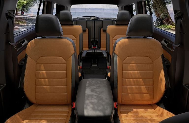 Interior seats of 2020 VW Atlas from front