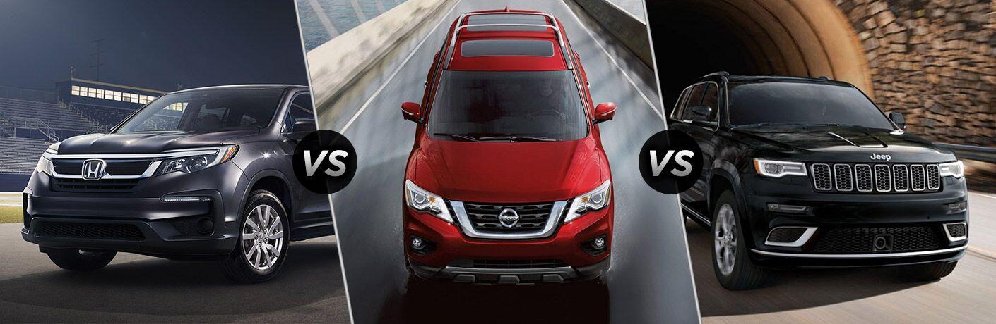 2019 Honda Pilot vs 2019 Nissan Pathfinder vs 2019 Jeep Grand Cherokee