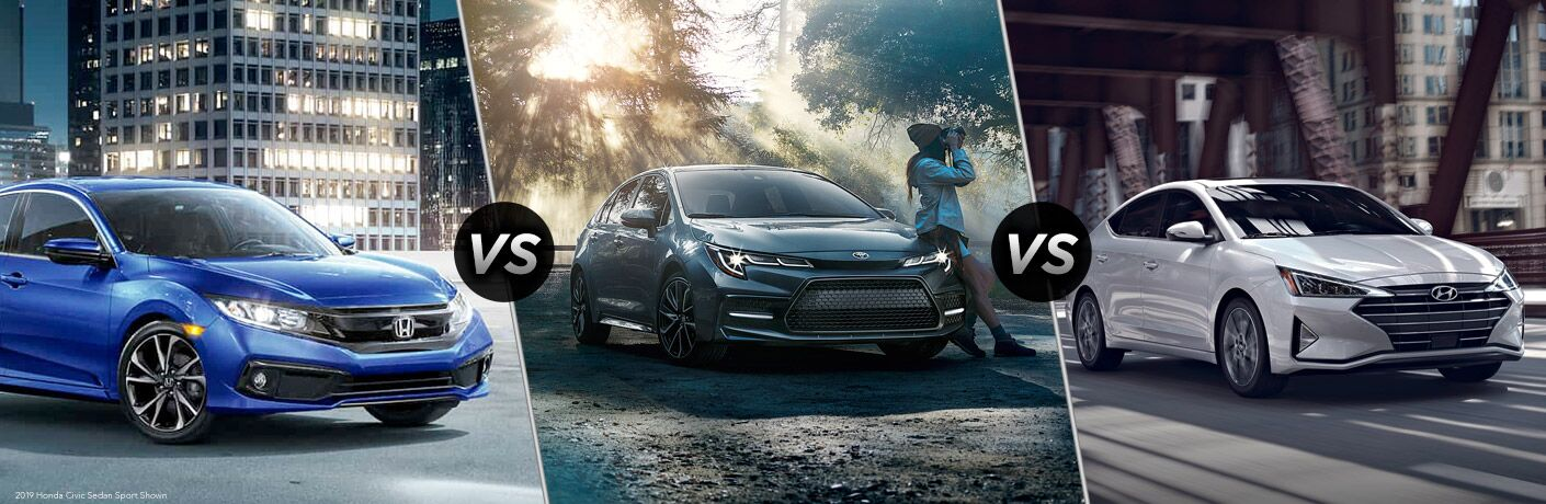 2019 Honda Civic vs 2019 Toyota Corolla vs 2019 Hyundai Elantra