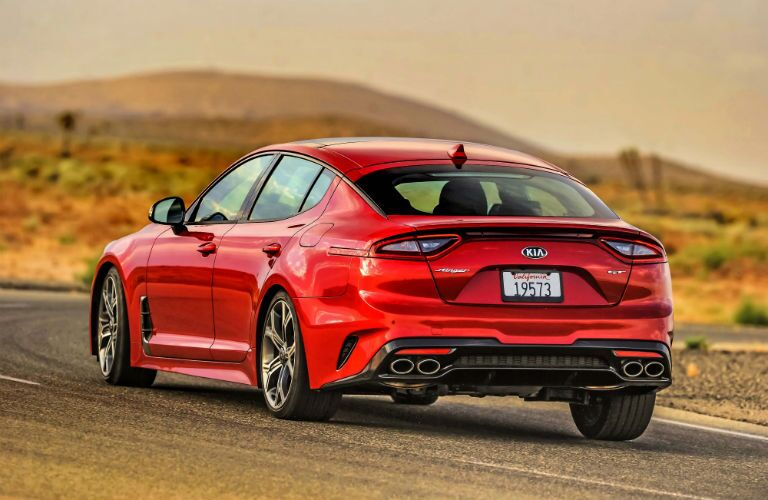 2018 Kia Stinger Exterior Driver Side Rear Angle