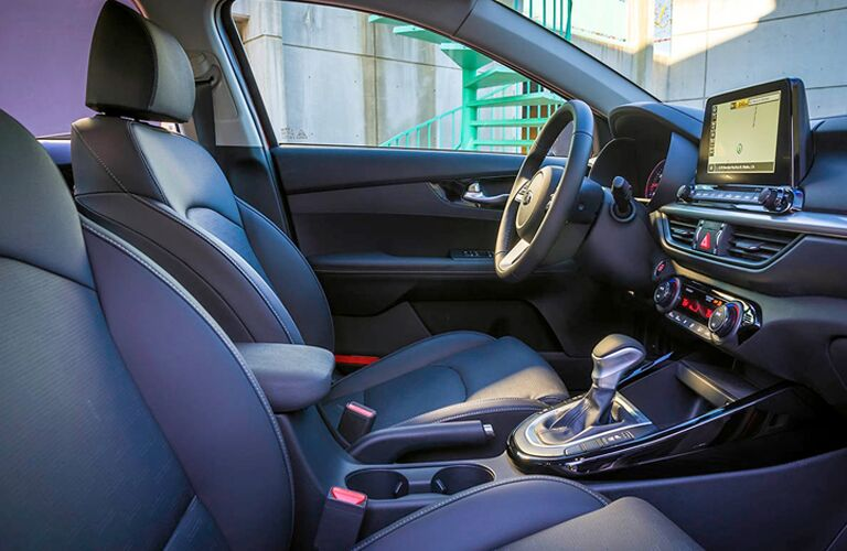 Front seating in 2019 Kia Forte