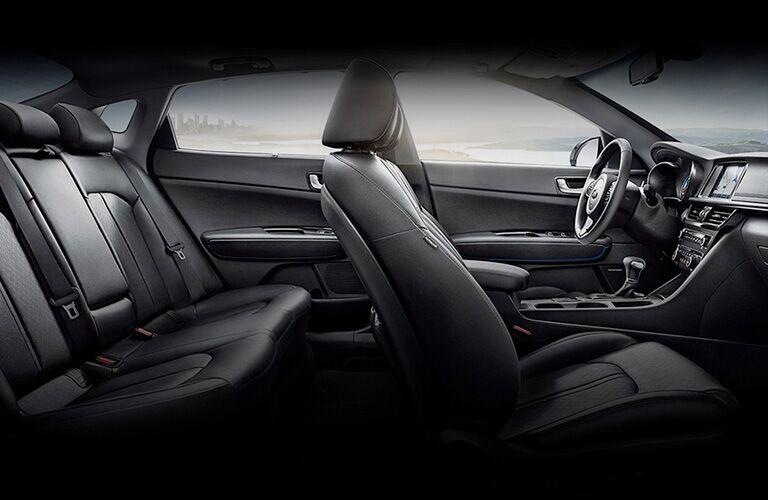 full interior of a 2021 Kia Optima Hybrid