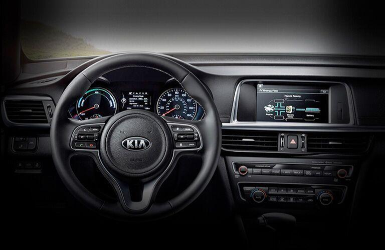 front interior of a 2021 Kia Optima Hybrid