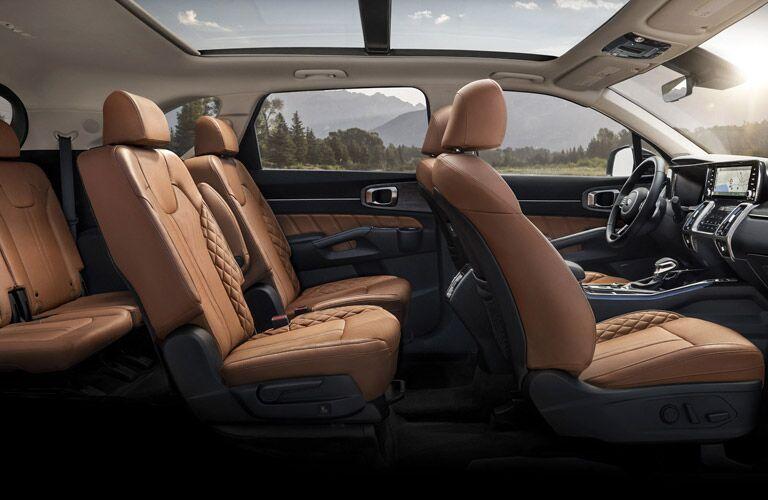 full interior of a 2021 Kia Sorento