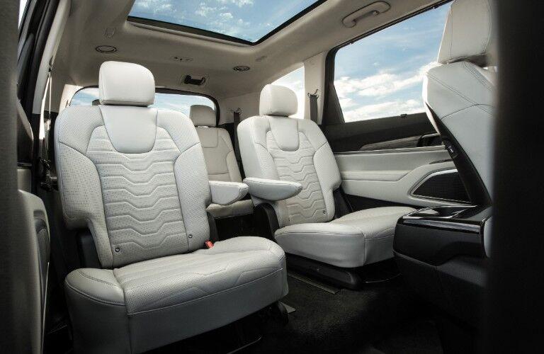 rear interior of a 2021 Kia Telluride