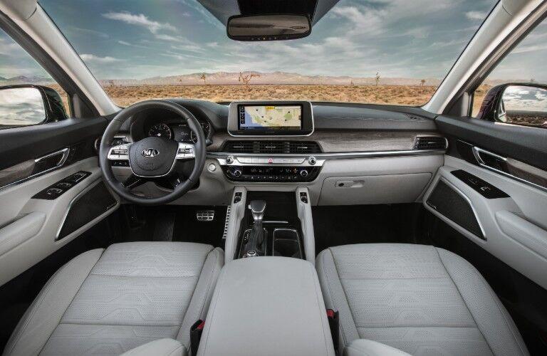 front interior of a 2021 Kia Telluride