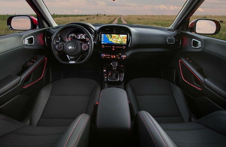front interior of a 2021 Kia Soul