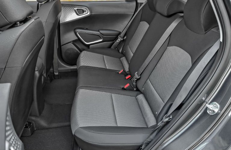 A photo of the rear seats in the 2020 Kia Soul.