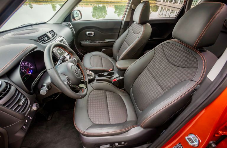 A photo of the front seats in the 2019 Kia Soul.
