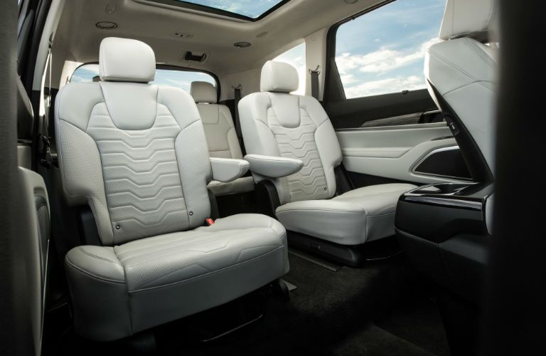 A photo of the rear seats in the 2020 Kia Telluride.