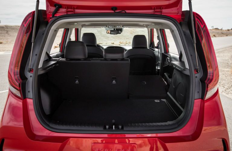A photo of the rear cargo area of the 2020 Kia Soul.