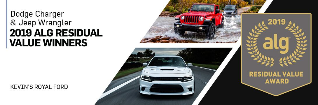 Dodge Charger and Jeep Wrangler Win 2019 Residual Value Award | Owego, NY