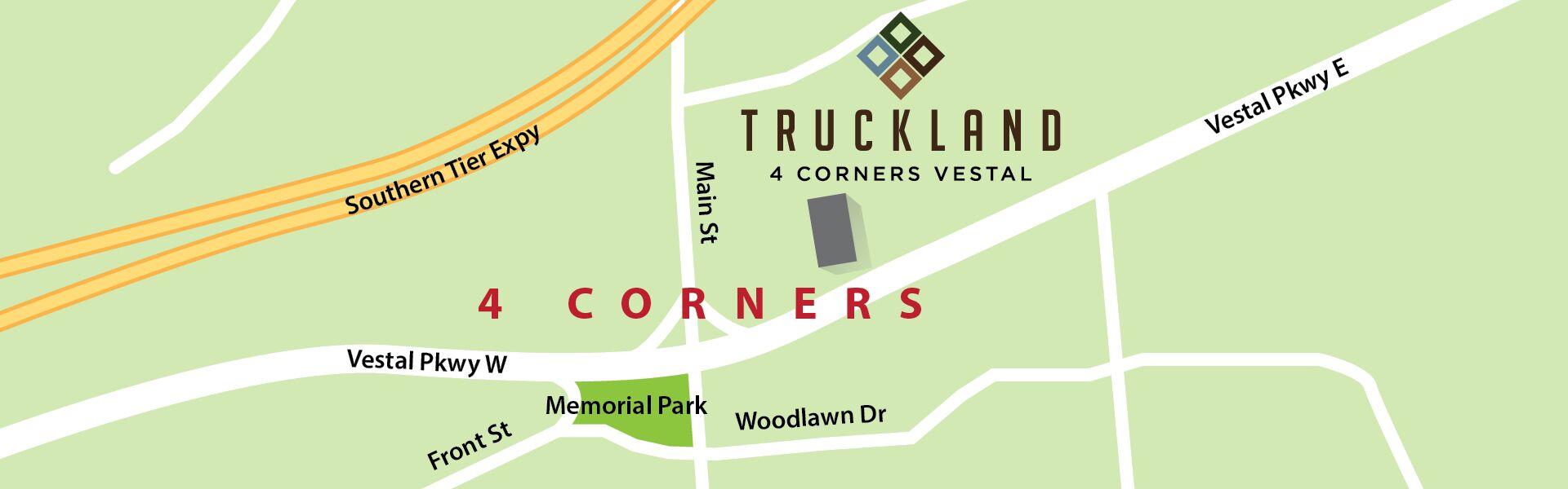 map of Truckland Vestal location