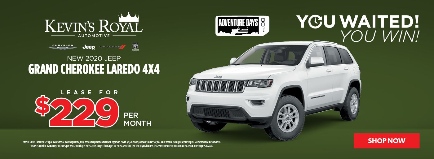 New 2020 Jeep Grand Cherokee lease offer
