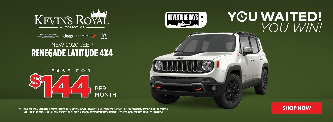 New 2020 Jeep Renegade lease offer