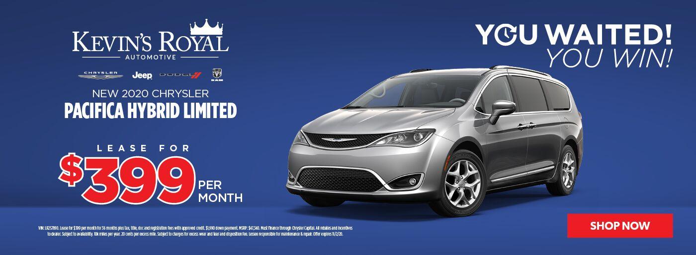 New 2020 Chrysler Pacifica Hybrid lease offer