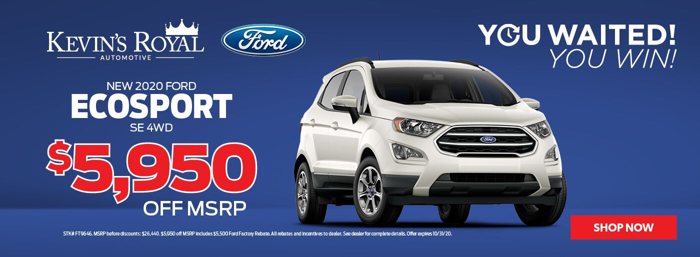 New Ford Ecosport offer