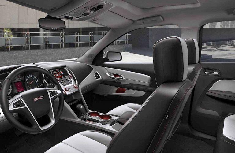 2017 GMC Terrain Gray Black Leather Interior