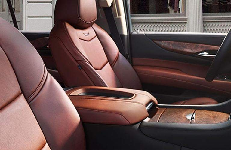 front seats of 2018 Cadillac Escalade