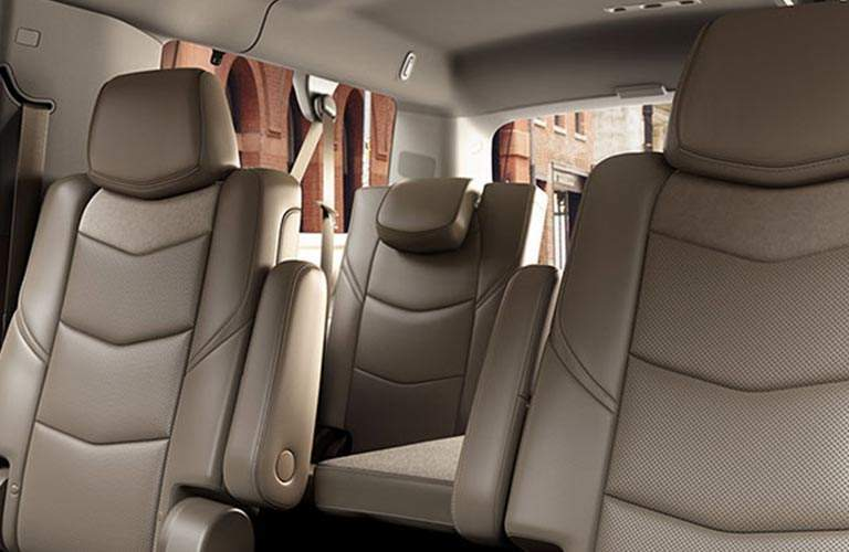 rear seats of 2018 Cadillac Escalade