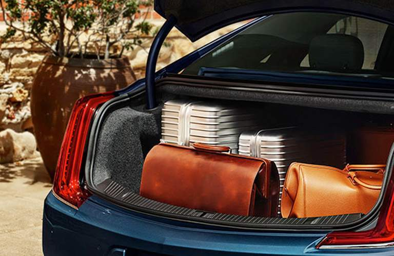 suitcases in trunk of 2018 Cadillac XTS