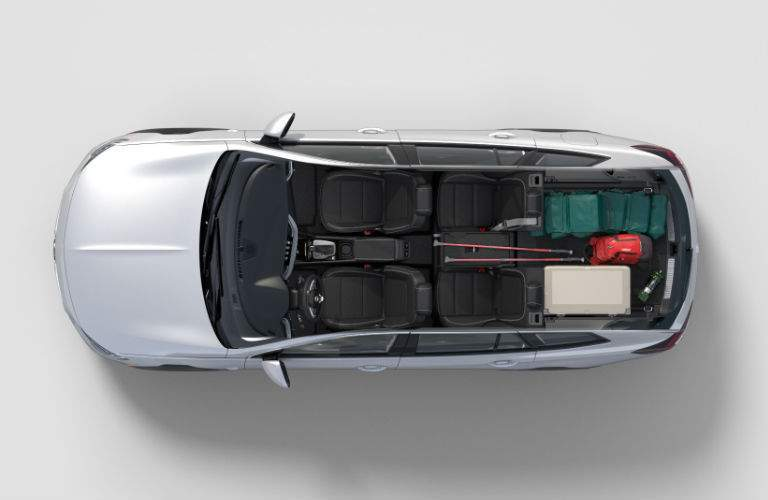 birds eye view of cargo space in 2018 Buick Regal TourX