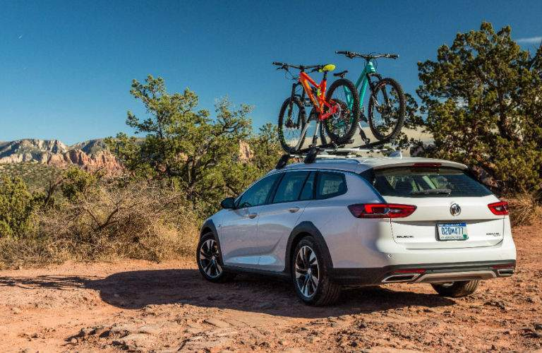 2018 Buick Regal TourX with bike rack on top