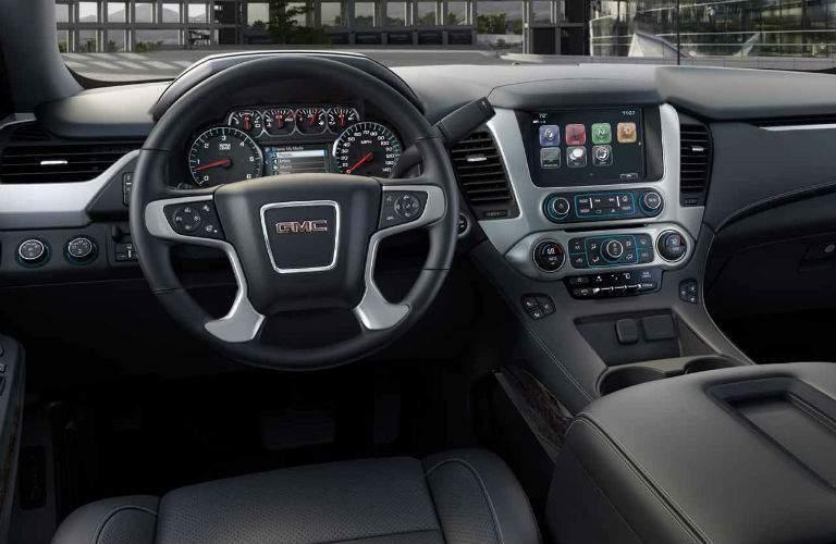 steering wheel and dashboard design in 2019 GMC Yukon