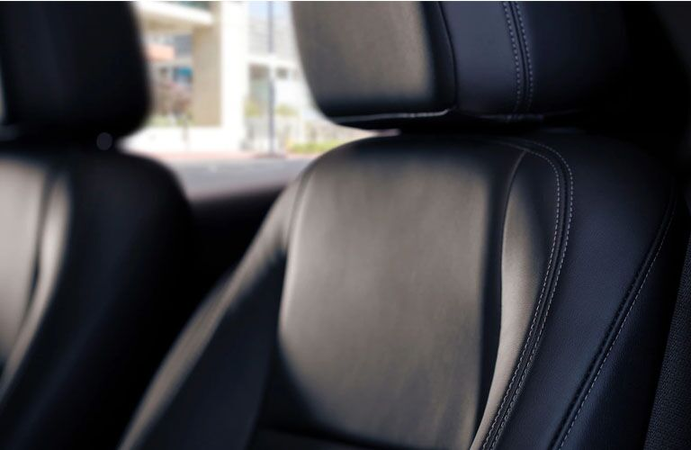 2019 Buick Encore interior closeup shot of front seating leather upholstery