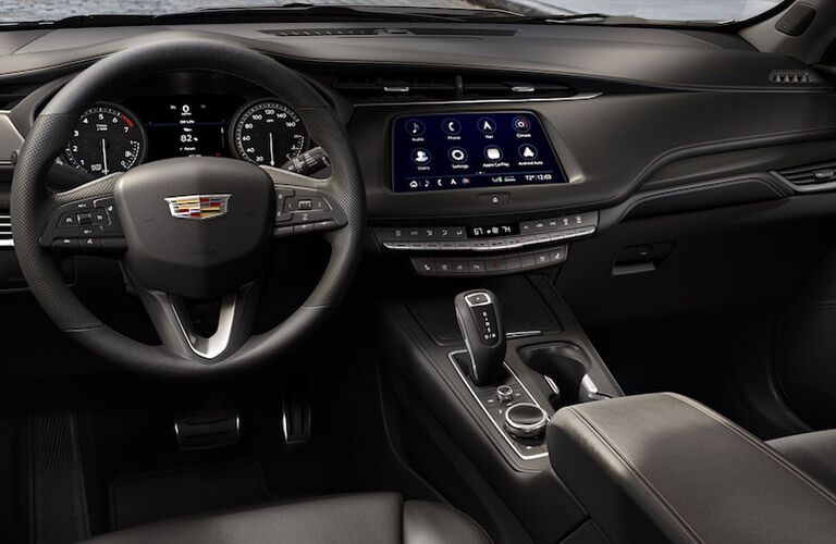 Steering wheel and dashboard in 2019 Cadillac XT4