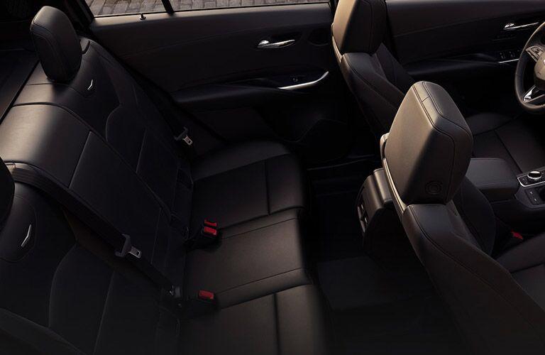 2019 Cadillac XT4 interior overhead shot of 2-row seating