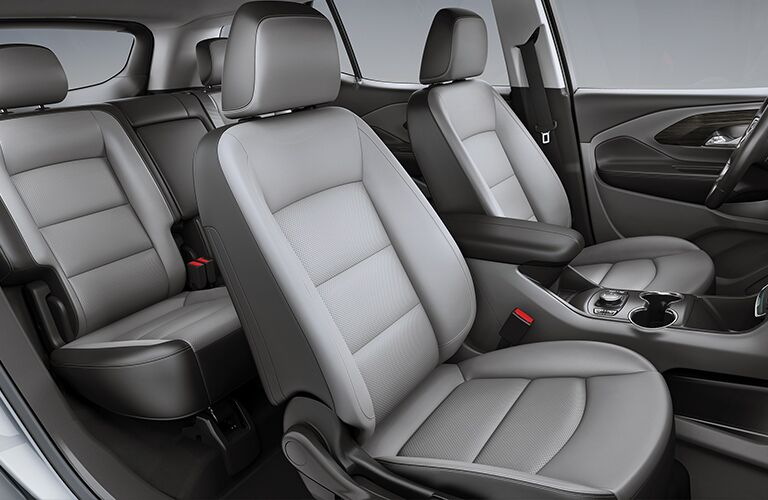 2019 GMC Terrain interior show of back 2-row seating and upholstery