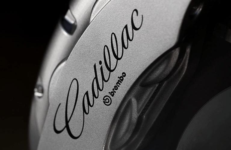 2020 Cadillac CT6 exterior closeup of Cadillac Brembo brake