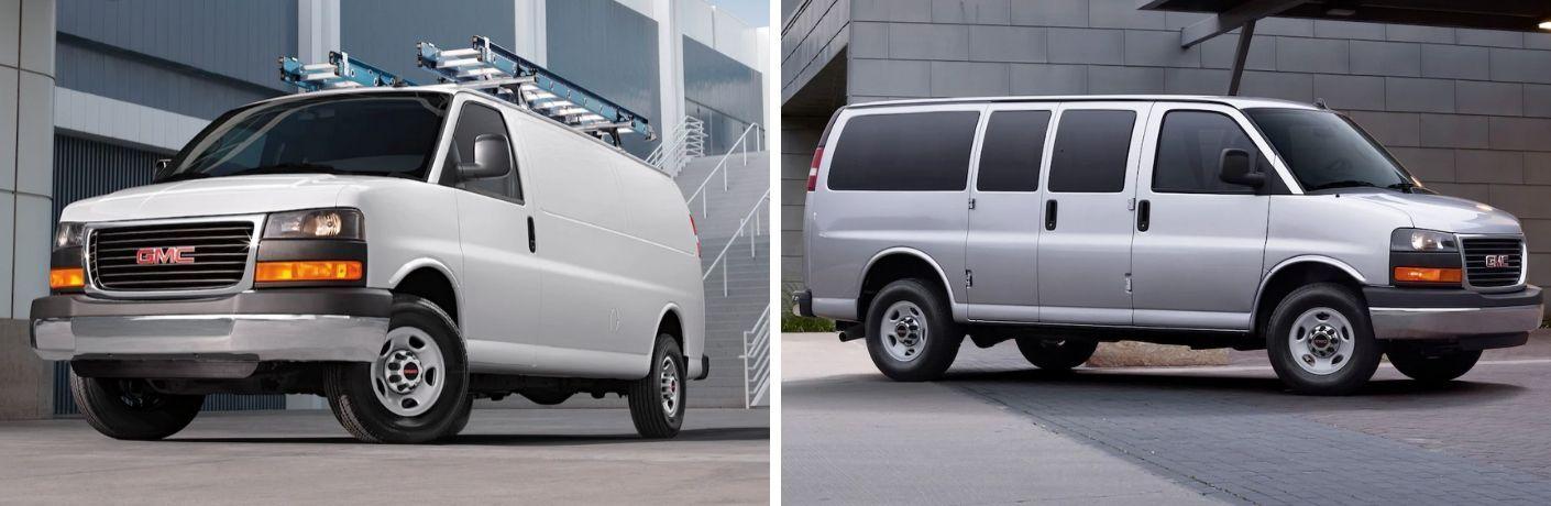 2020 GMC Savana cargo van and 2020 GMC Savana passenger vans