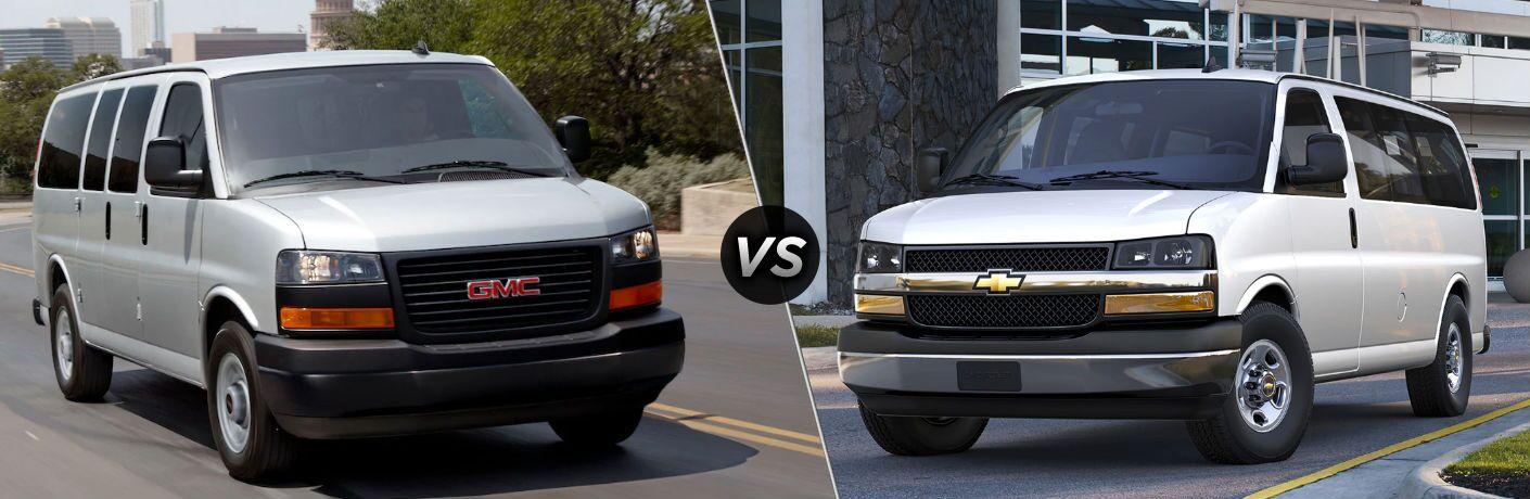 2020 GMC Savana vs 2020 Chevy Express