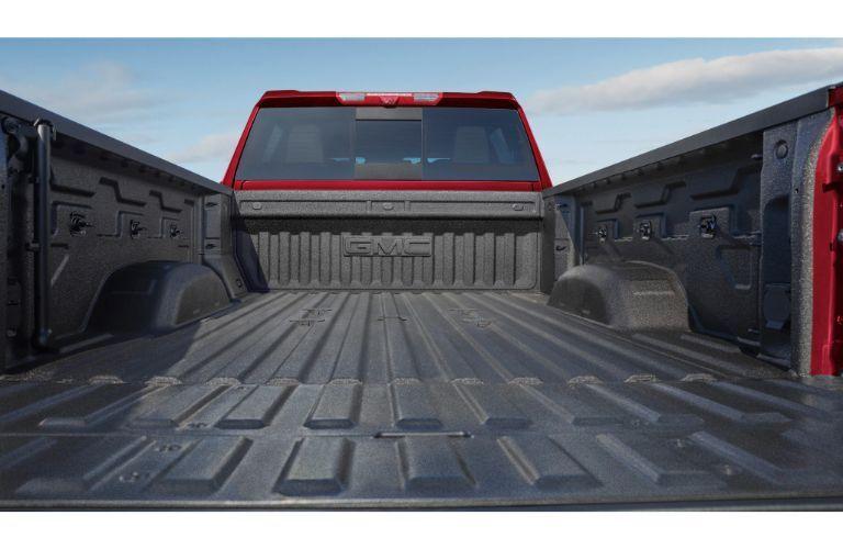 2020 GMC Sierra 2500HD exterior closeup shot of truck bed detailing