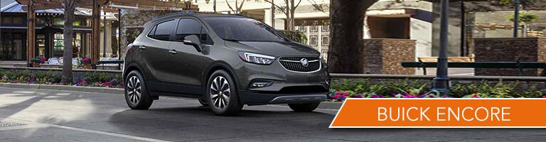 Black 2017 Buick Encore parked on the street