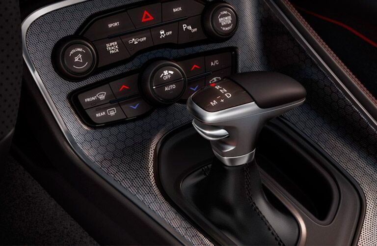 2017 Dodge Challenger honeycomb center console design