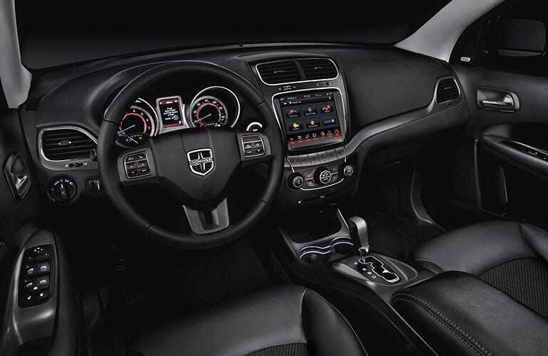 2017 Dodge Journey Black leather Interior