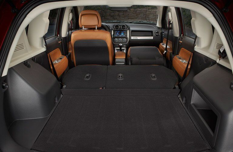 2017 Jeep Compass Rear Cargo Space Folded Seats