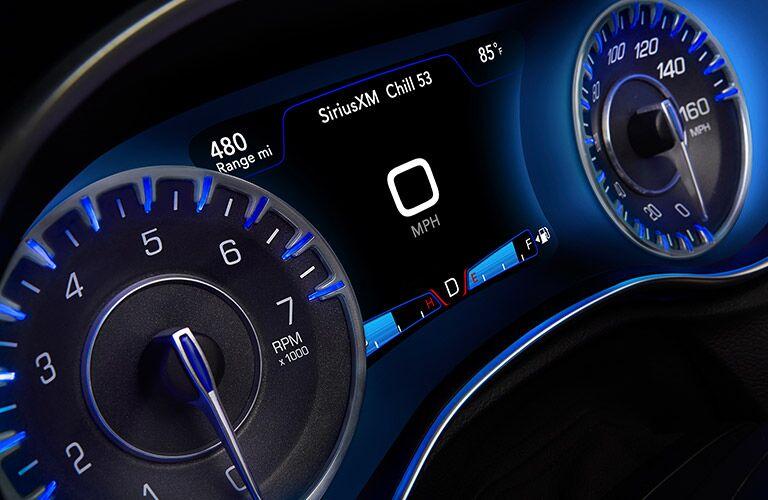 2017 Chrysler 300 Blue Dashboard Lighting