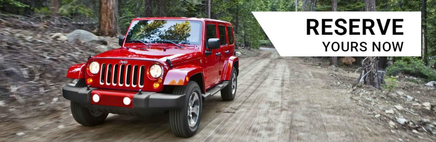 Reserve a 2018 Jeep Wrangler