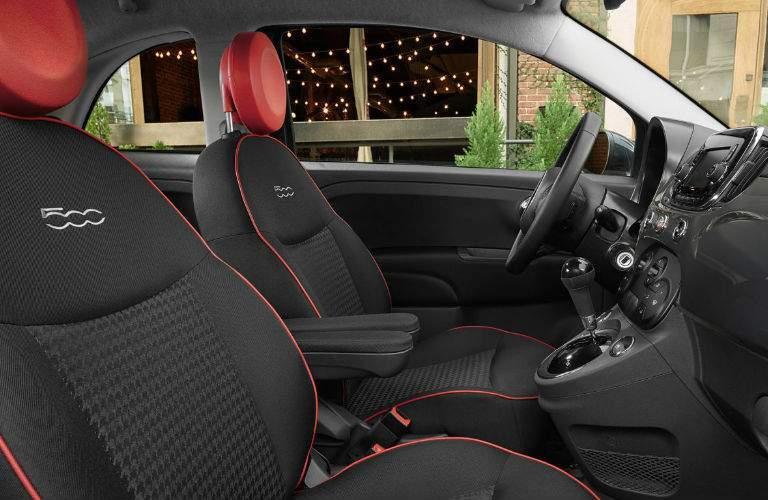 2017 Fiat 500 interior design