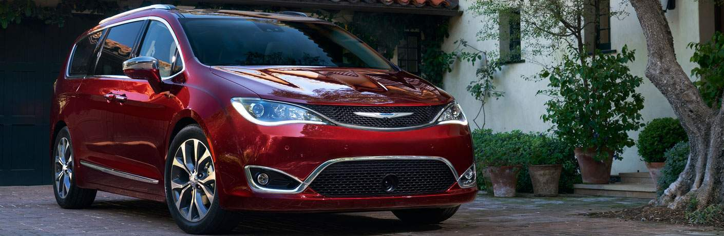 red 2018 Chrysler Pacifica Hybrid parked