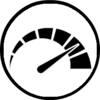 Black and white credit score logo
