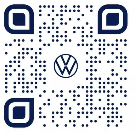 Volkswagen QR Code that leads to the Taos Virtual Showroom
