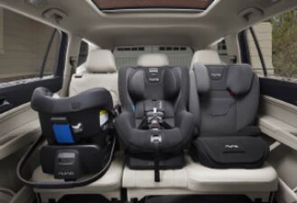2nd row with room for three child seat