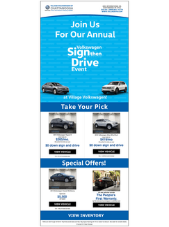 Sign then Drive Sales Event