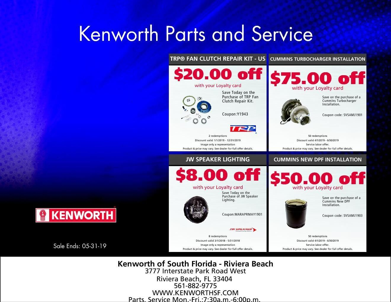 Kenworth Parts & Service Promo RB May 2019
