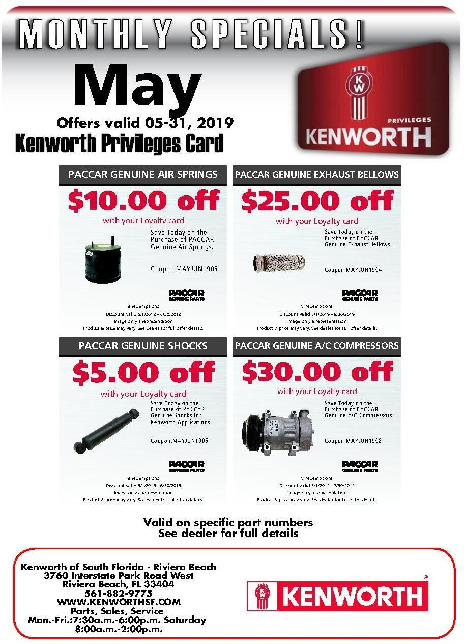 Kenworth Parts Specials RB May 2019